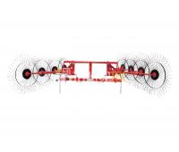 Грабли ворошилки 8 колес Польша EKIW (навесные)