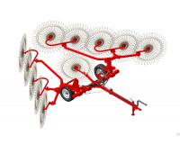 Грабли ворошилки 10 колес Польша EKIW (навесные)