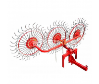 Грабли ворошилки 3 колеса Польша EKIW (навесные)